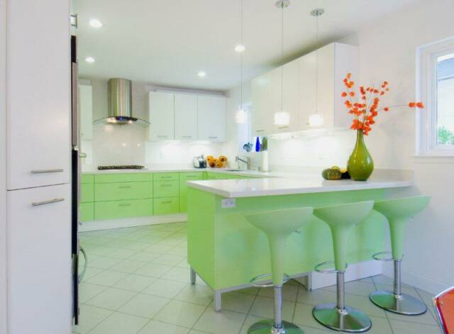 Personal Kitchen Design – Mint favorite barstools